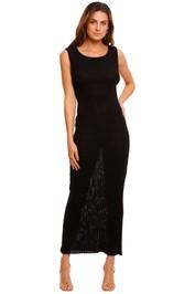 Bec and Bridge Amelie Black Knit Midi Dress scoop