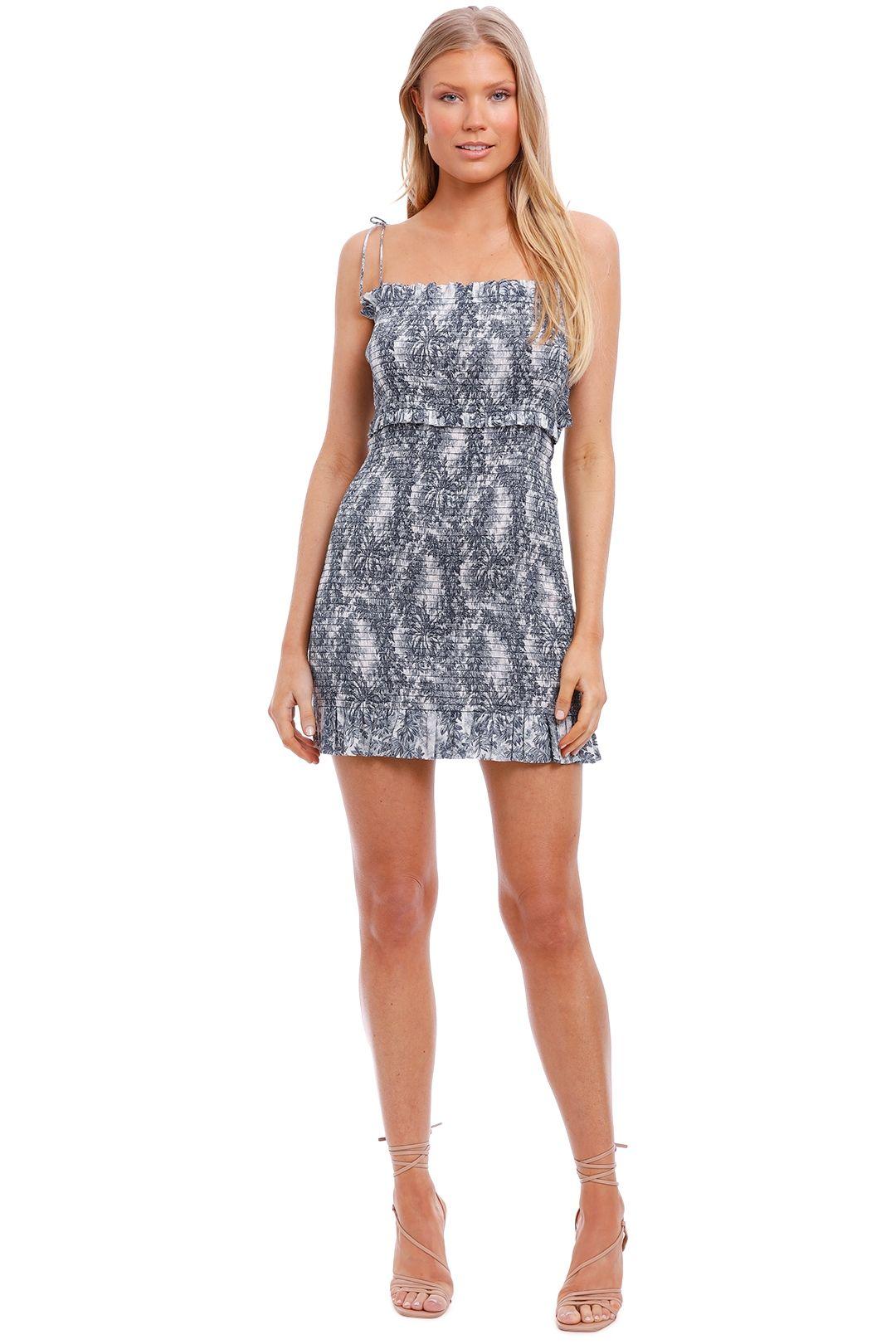 Bec and Bridge Arianne Print Mini Dress navy blue