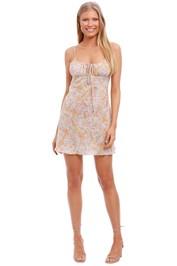 Bec and Bridge Dita Floral Print Mini Dress scoop