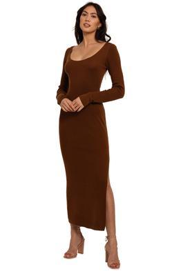 Bec and Bridge Freya Knit Dress brown