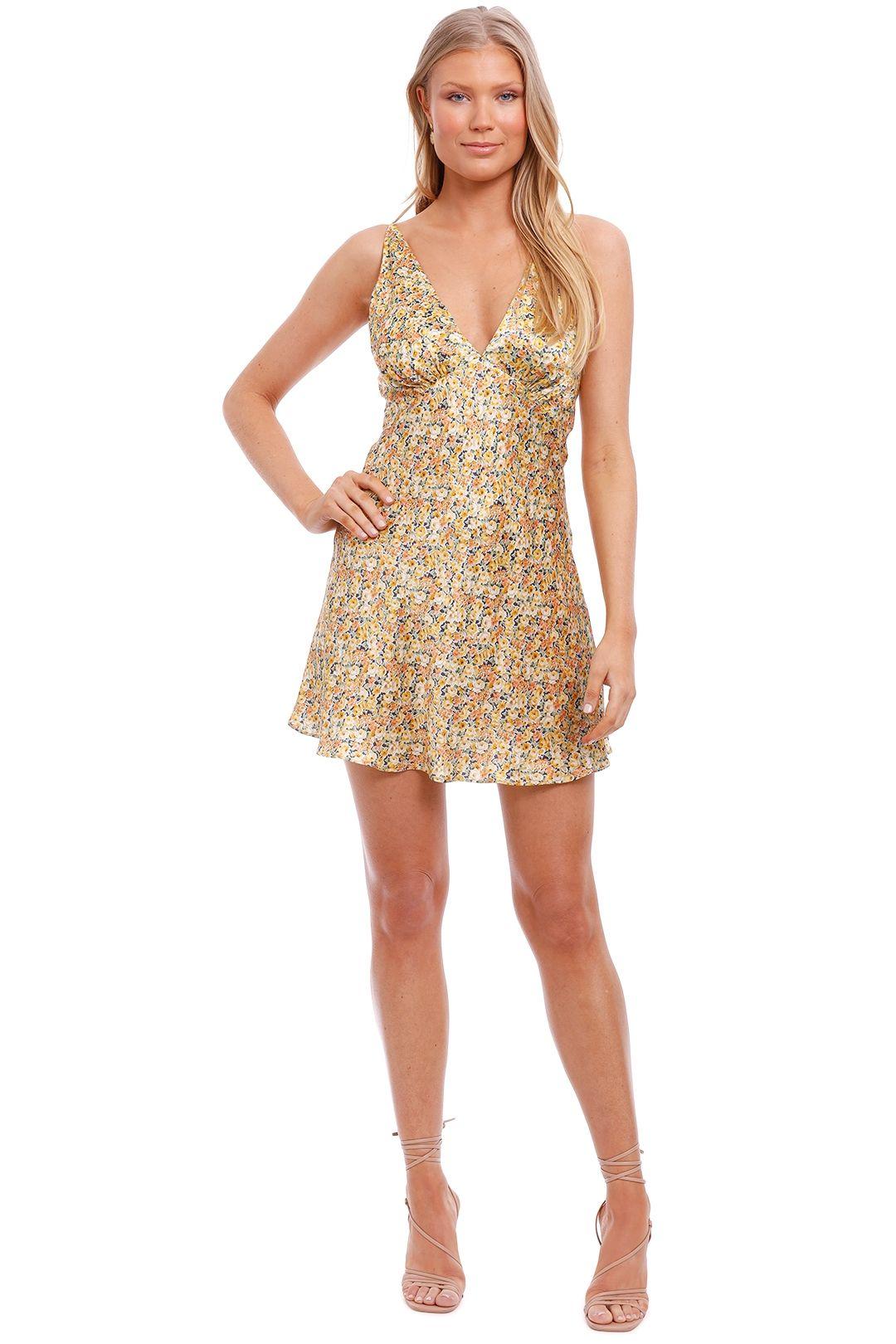 Bec and Bridge Golden Fields Silk Mini Dress slip