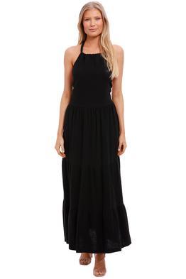 Bec and Bridge Haku Cotton Maxi Dress Black backless