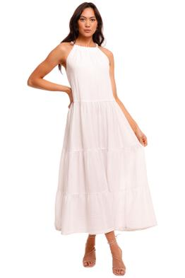 Bec and Bridge Haku Cotton Maxi Dress Ivory white