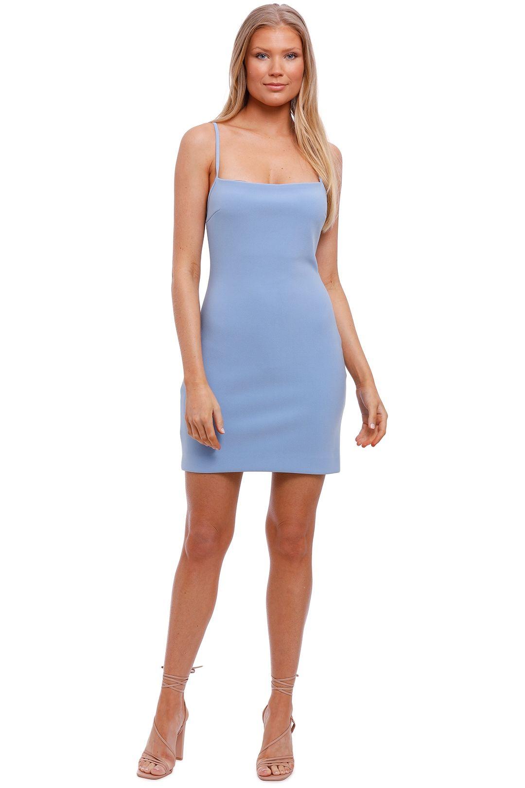 Bec and Bridge Hana Sky Blue Fitted Mini Dress