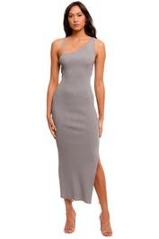 Bec and Bridge Harper Knit Asymmetric Dress grey