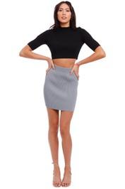 Bec and Bridge Harper Knit Mini Skirt Storm grey