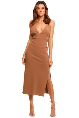 Bec and Bridge Maddison Midi Dress chocolate