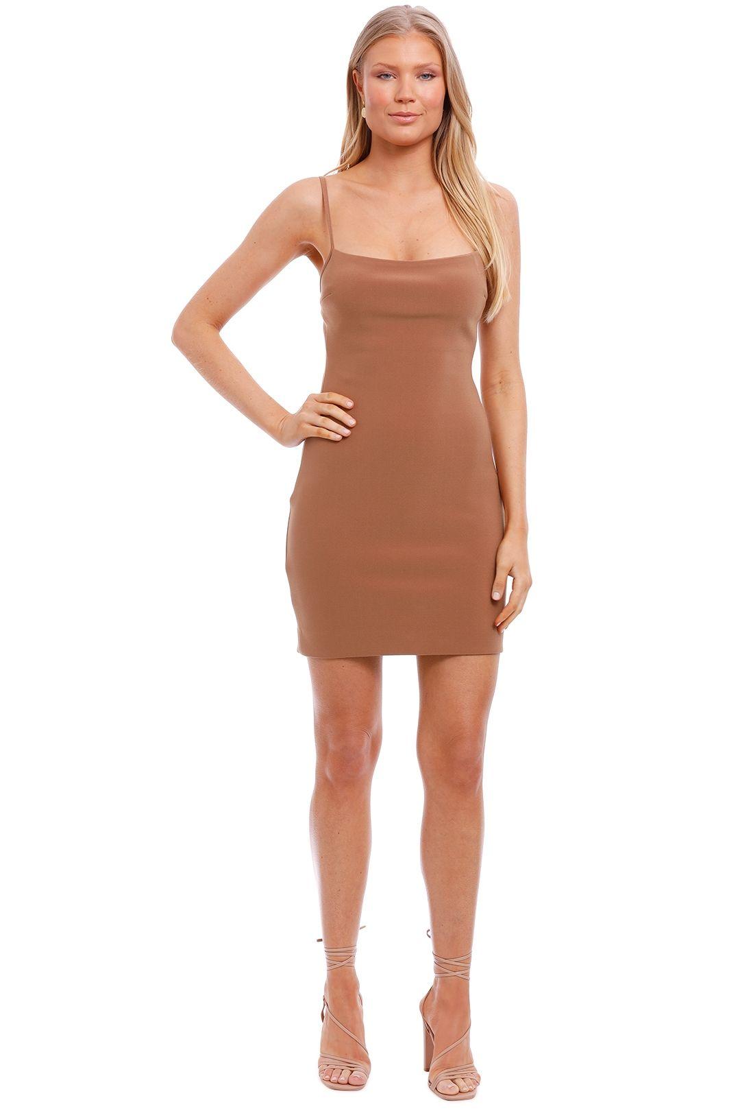 Bec and Bridge Maddison Mini Dress Chocolate brown