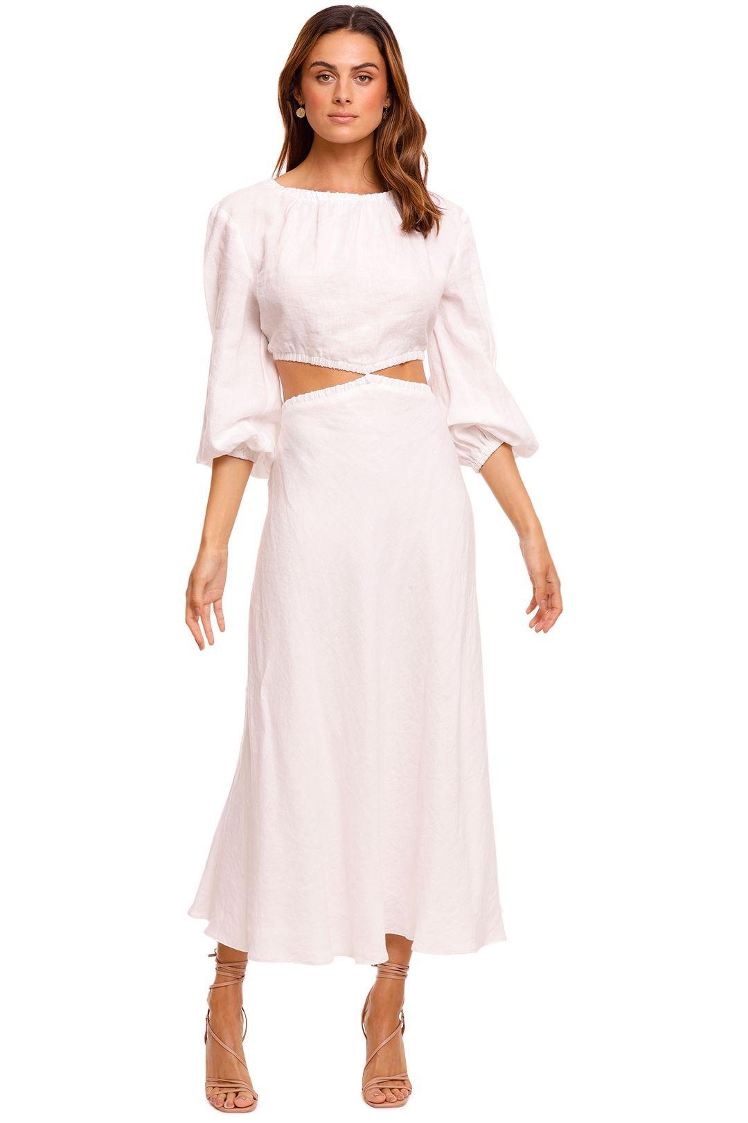 Bec and Bridge Madeleine Ivory midi dress