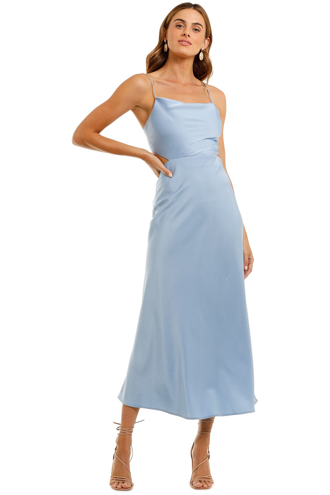 Bec and Bridge Raquel Baby Blue Midi Dress