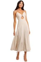 Bec and Bridge Sahara Linen Midi Dress full skirt