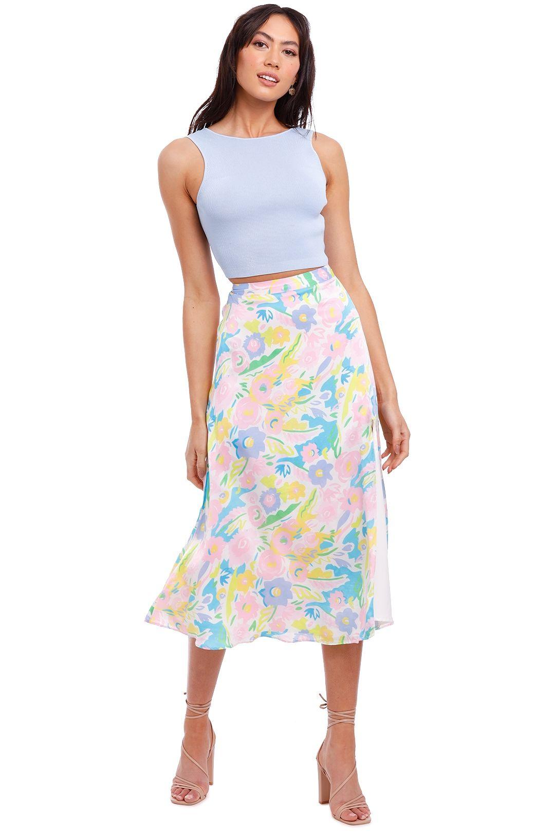 Bec and Bridge Sorbet Summer Knit Twist Top