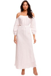 Bec and Bridge Tabetha Ivory Cut Out Midi Dress