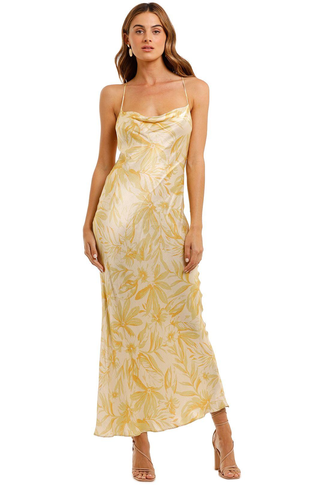 Bec and Bridge Tropical Punch Midi Dress Yellow