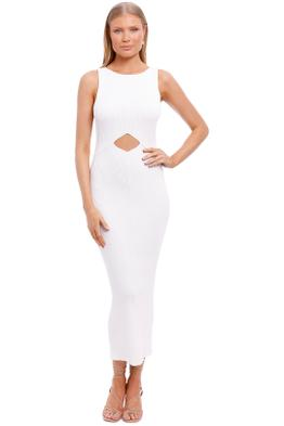 Bec and Bridge Versailles Knit Midi Dress ivory white
