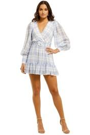 Bec+Bridge-Alexa-LS-Mini-Dress-Blue-Check-Front