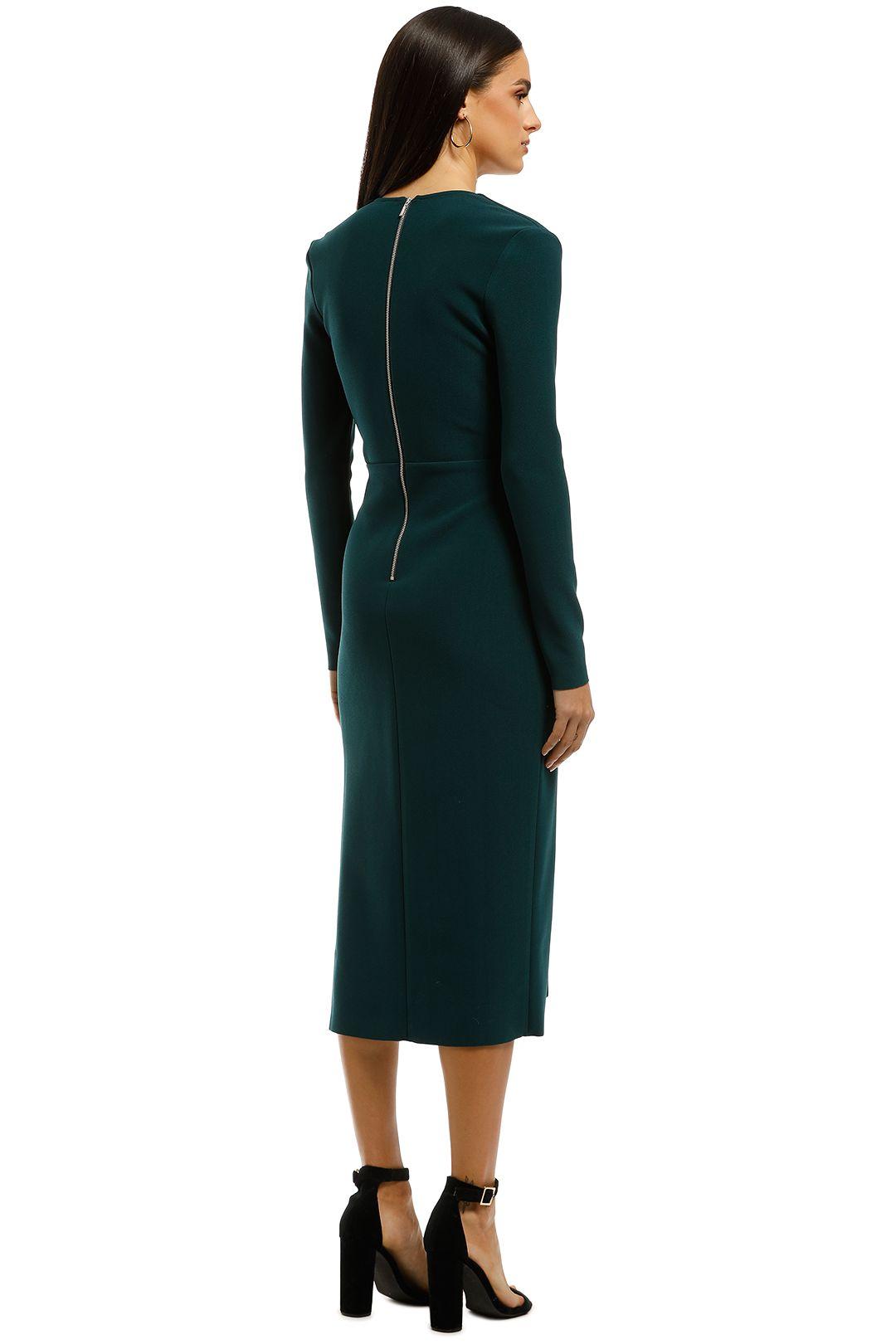Bec+Bridge-Tasha-LS-Midi-Dress-Emerald-Back