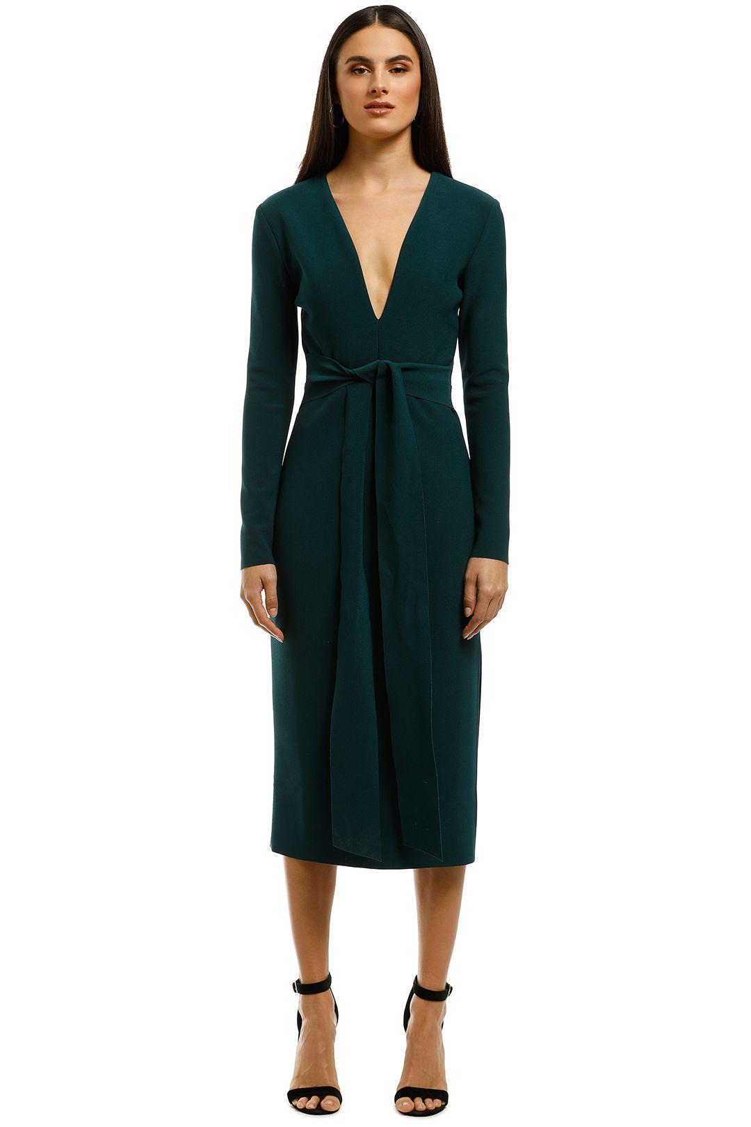 Bec+Bridge-Tasha-LS-Midi-Dress-Emerald-Front