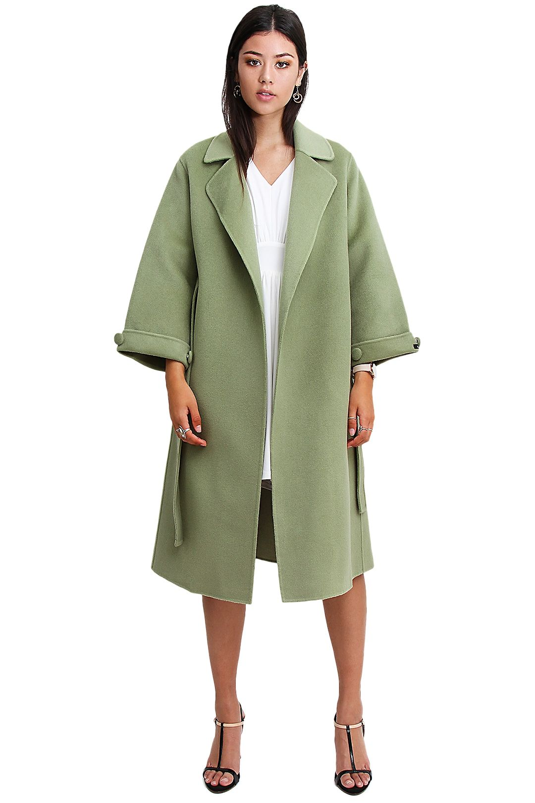 Belle and Bloom Stay Wild Coat Green