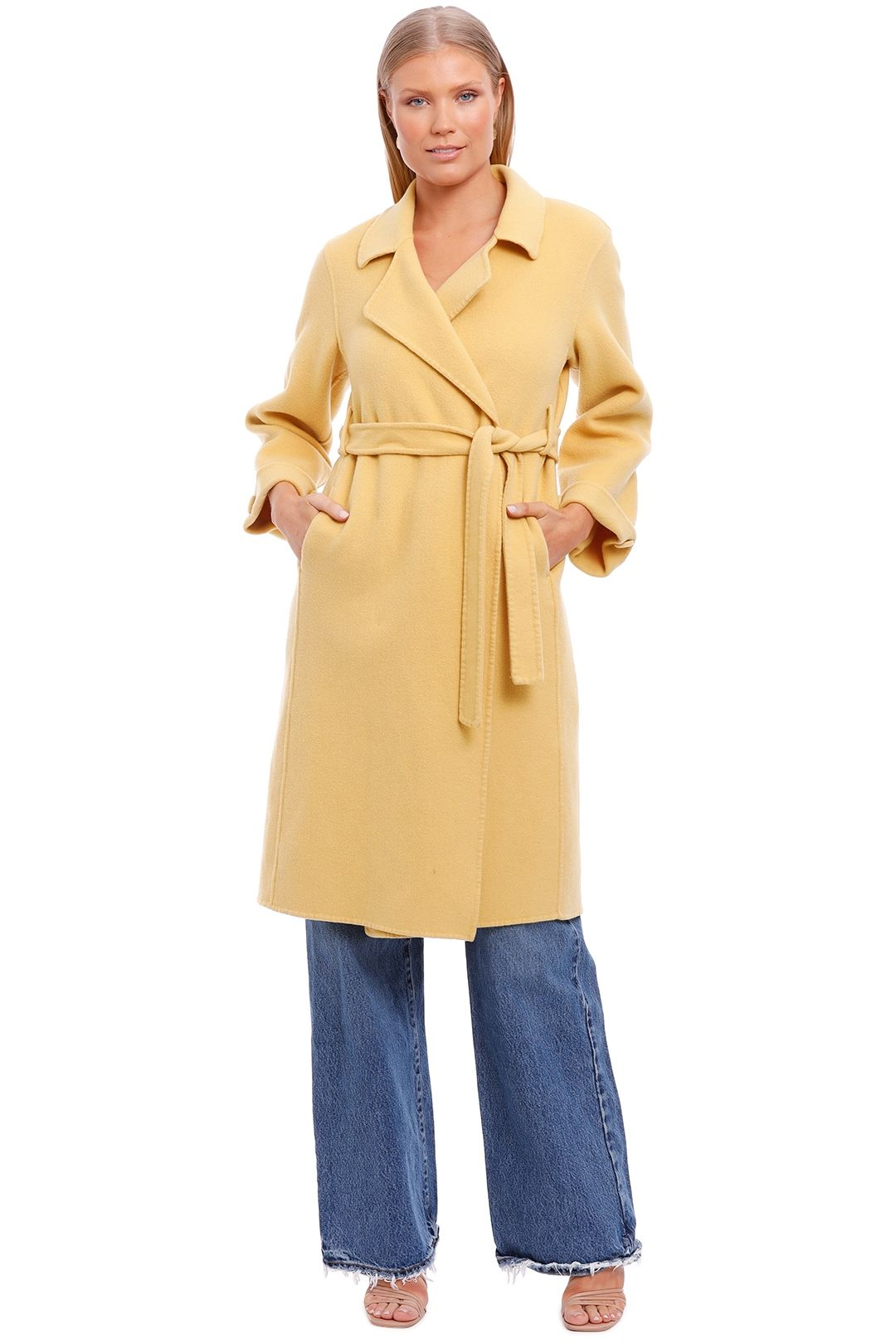 Belle and Bloom Stay Wild Coat Maize