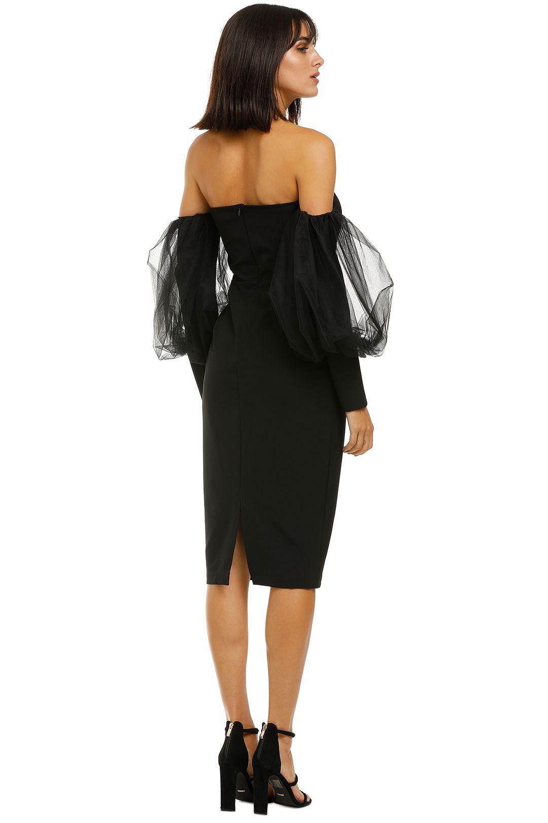 Bianca-and-Bridgett-Harper-Midi-Dress-Black-Back