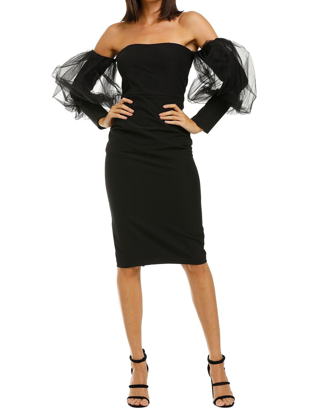 Bianca-and-Bridgett-Harper-Midi-Dress-Black-Front