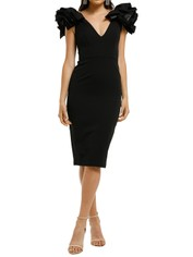 Bianca-and-Bridgett-Lilly-Midi-Dress-Black-Front