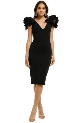Bianca-and-Bridgett-Lilly-Midi-Dress-Black-Front