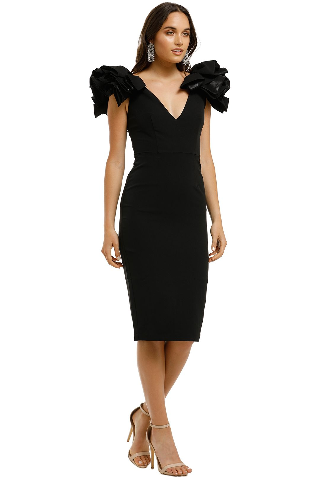 Bianca-and-Bridgett-Lilly-Midi-Dress-Black-Side