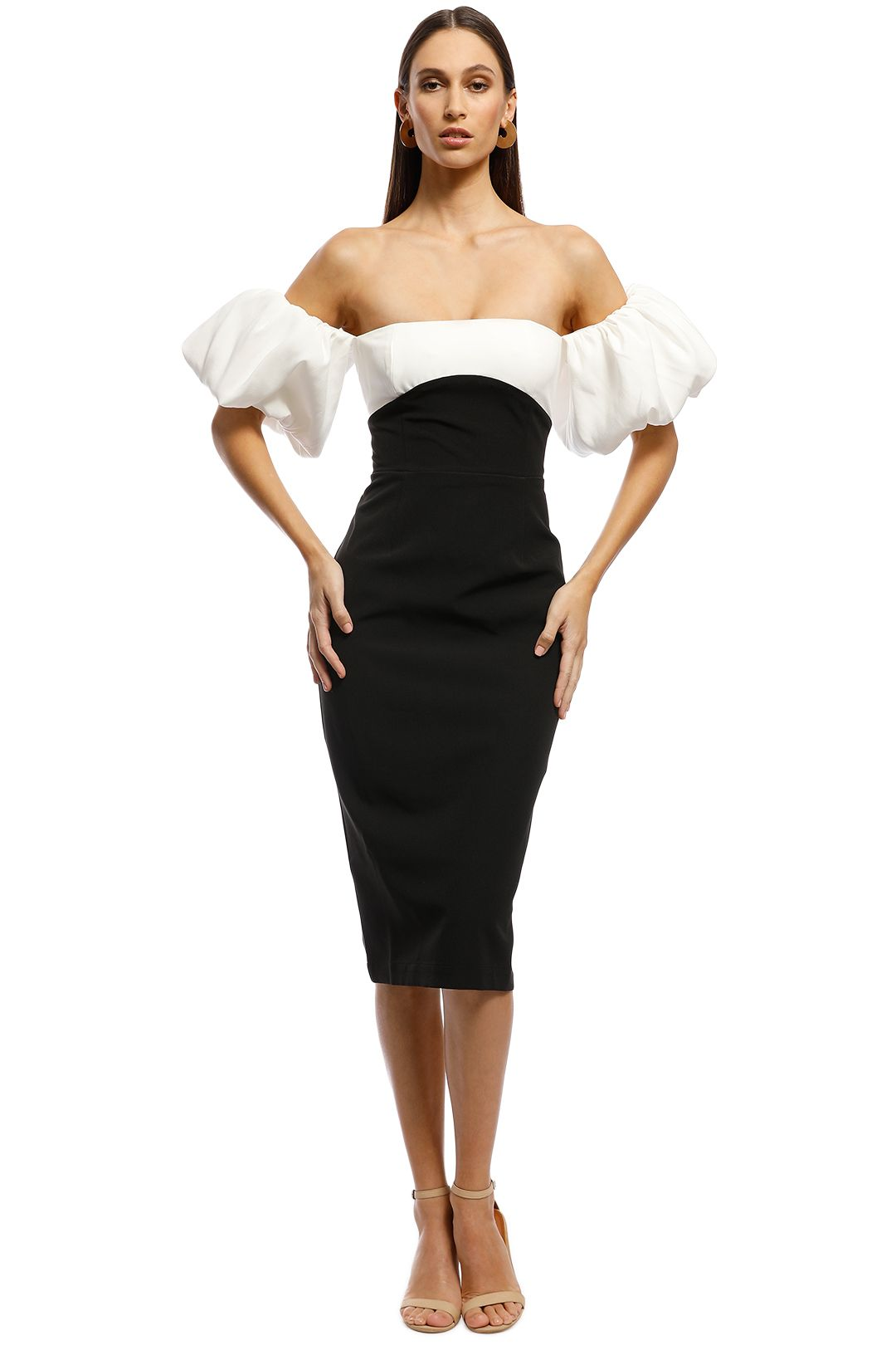 Bianca and Bridgett - Alexa Dress - Black/White - Front