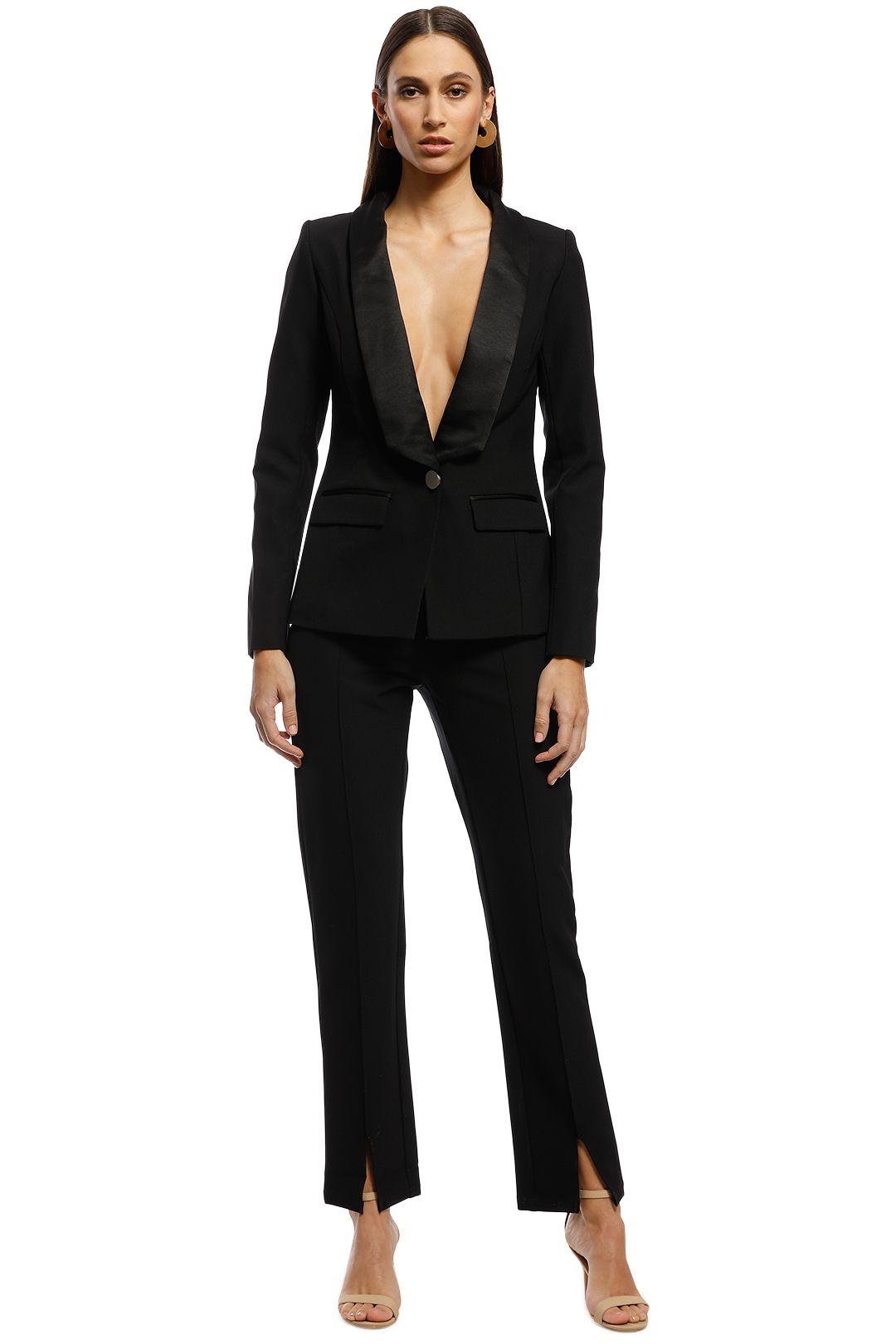Bianca & Bridgett - Milan Blazer and Pants - Black - Front