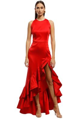 Bronx and Banco - Frida Flame Dress - Red - Front