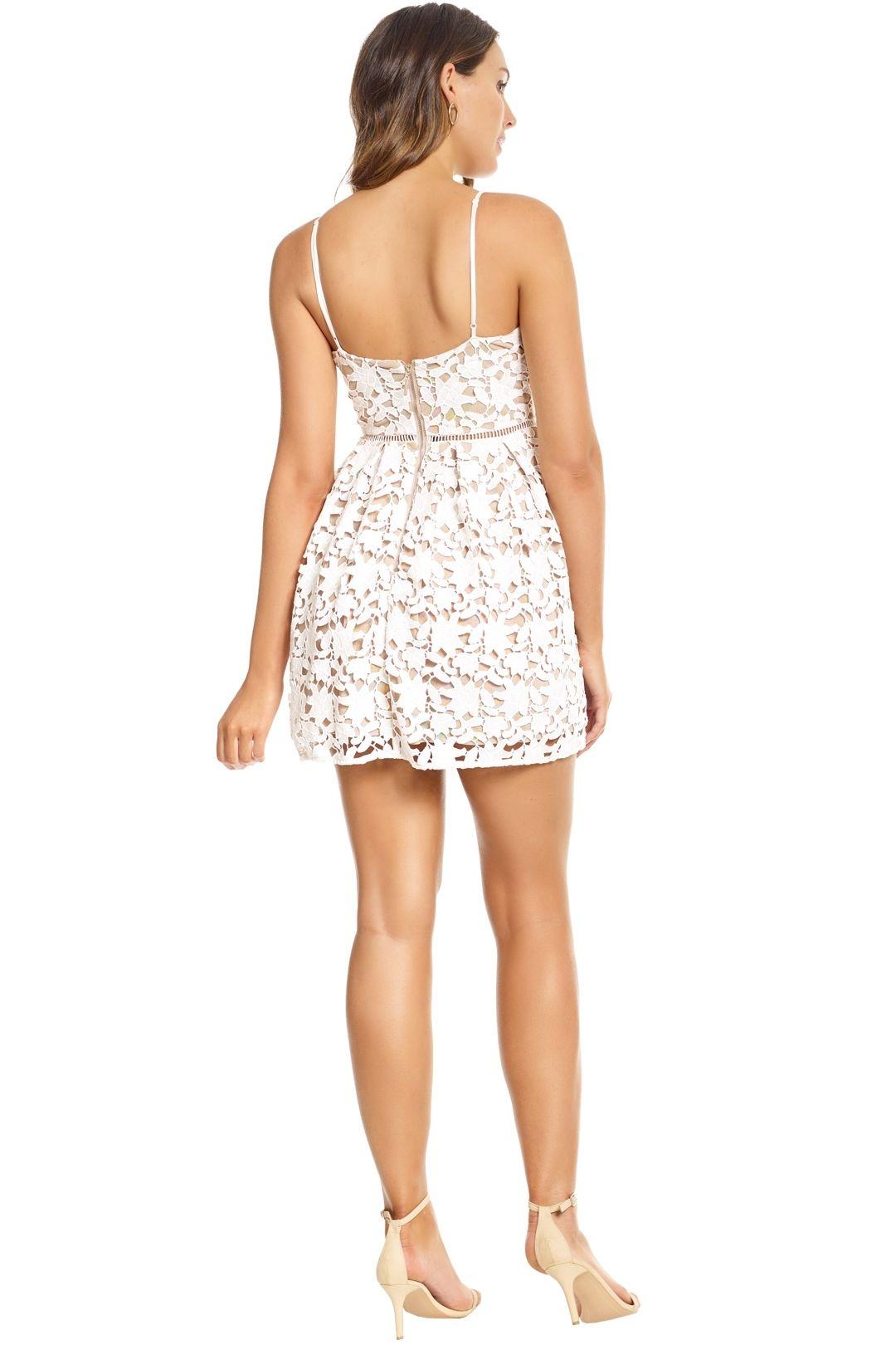 Bronx and Banco - White Florence Mini Dress - White - Back