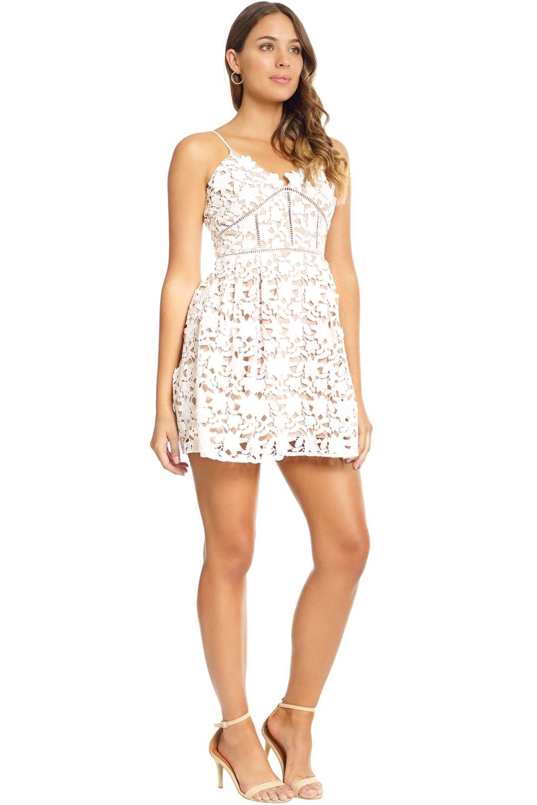 Bronx and Banco - White Florence Mini Dress - White - Side