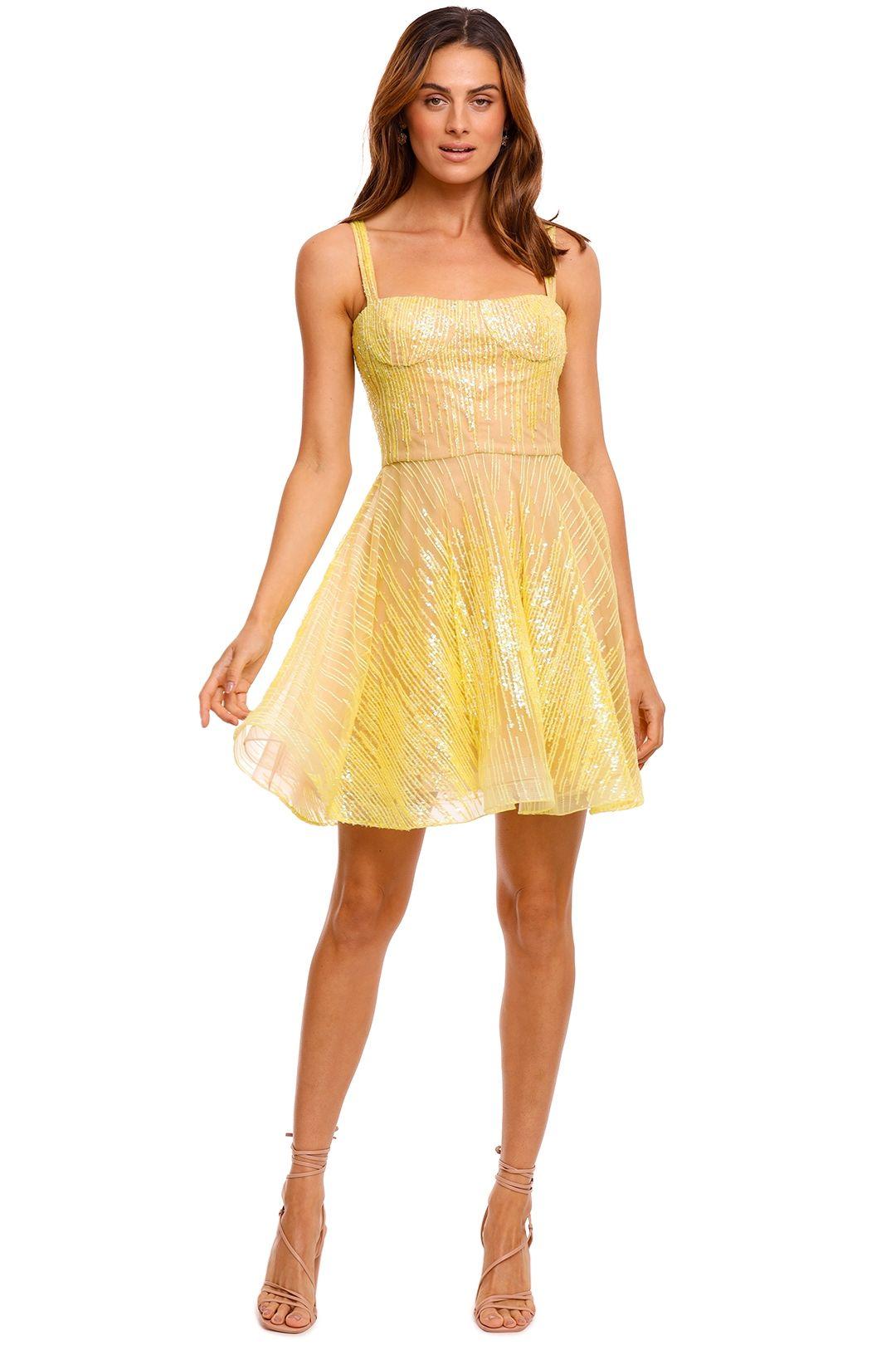 Bronx and Banco Mademouselle Mini Dress yellow
