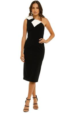 By-Johnny-Asymmetric-Belle-Bow-Midi-Black-and-White-Front