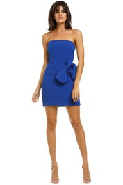 By-Johnny-Bow-Tie-Mini-Dress-Cobalt-Front