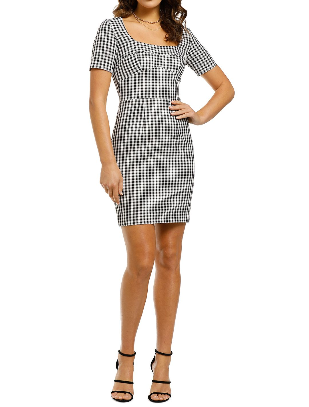 By-Johnny-Check-Mini-Tee-Dress-Front