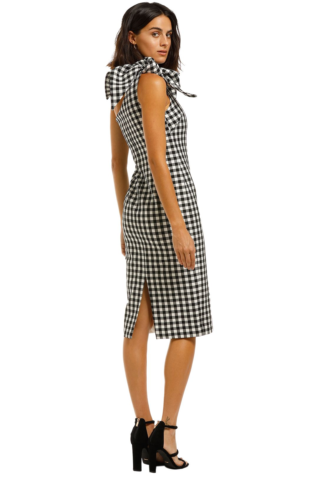 By-Johnny-Georgie-Gingham-Tie-Midi-Black-and-White-Back