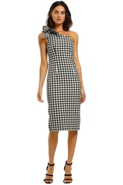 By-Johnny-Georgie-Gingham-Tie-Midi-Black-and-White-Front