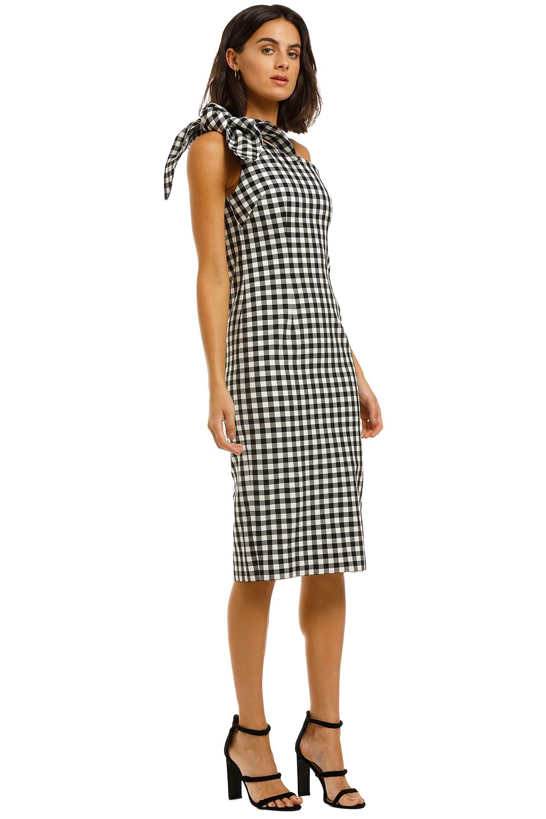 By-Johnny-Georgie-Gingham-Tie-Midi-Black-and-White-Side
