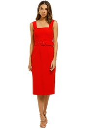 By-Johnny-Rose-Belted-Shift-Midi-Dress-Front
