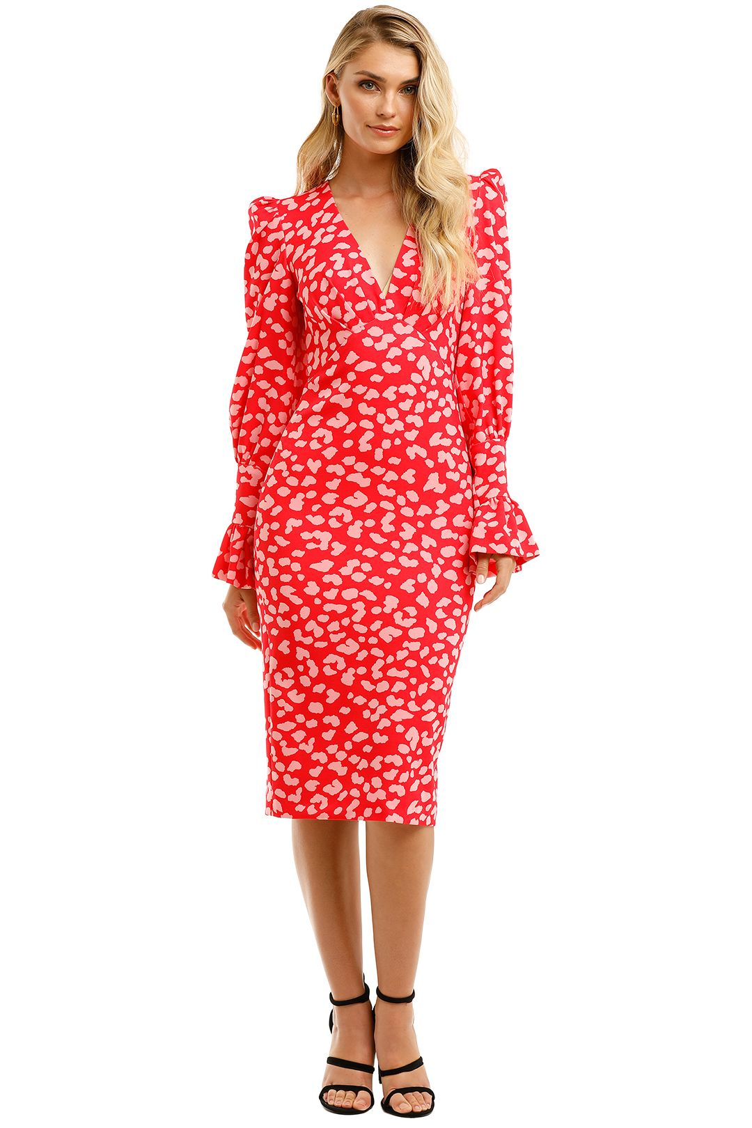 By-Johnny-Strawberry-Leopard-Tulip-Midi-Dress-Front