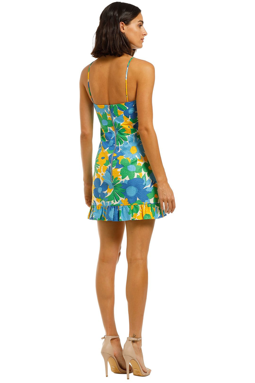 By-Johnny-Sunday-Floral-Frill-Mini-Dress-Print-Floral-Back