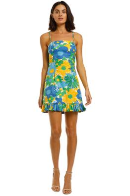 By-Johnny-Sunday-Floral-Frill-Mini-Dress-Print-Floral-Front