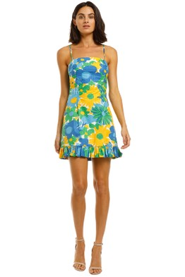 BY JOHNNY - Sunday Floral Frill Mini Dress