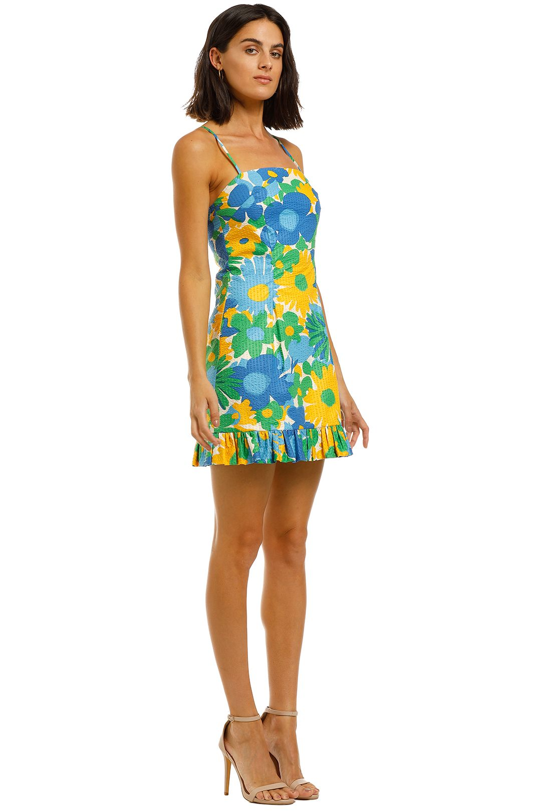 By-Johnny-Sunday-Floral-Frill-Mini-Dress-Print-Floral-Side