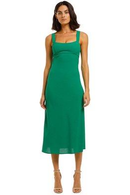 BY JOHNNY - Tayla Bias Midi Dress - Jungle Green