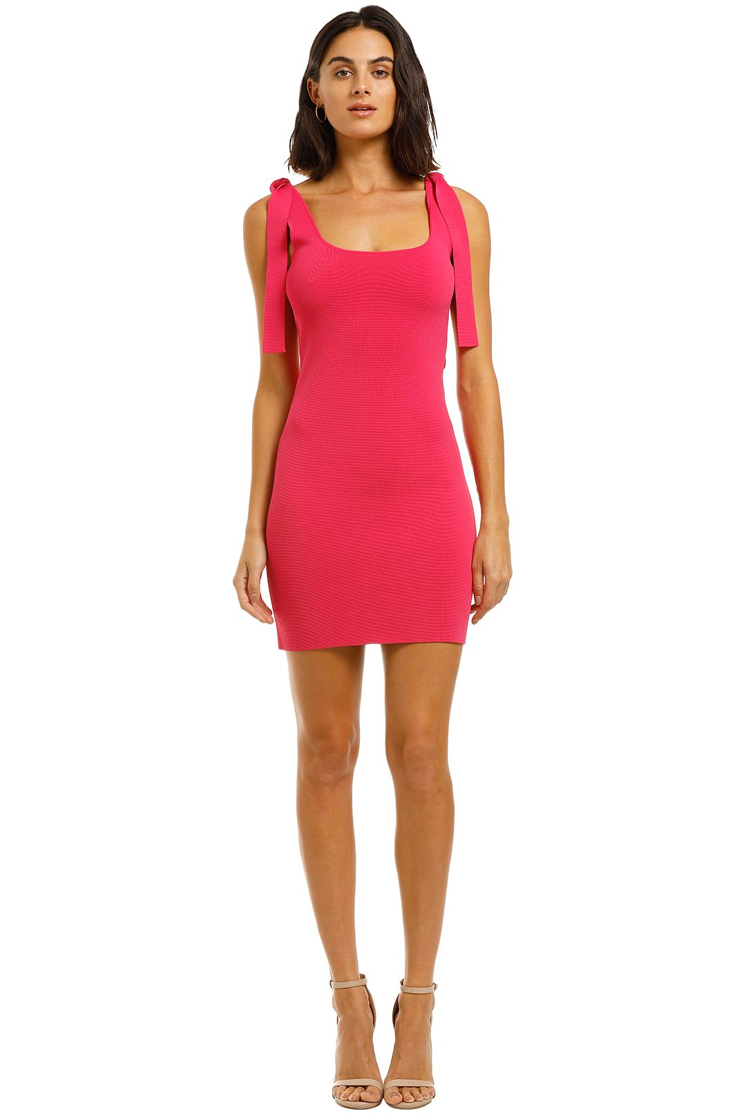 By-Johnny-Tie-Up-Knit-Mini-Pink-Front