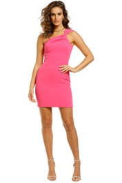 By-Johnny-Tied-Shoulder-Mini-Dress-Pink-Front